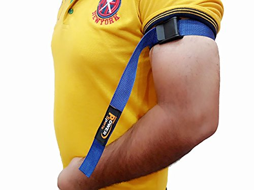 Shihan Power-Sports BICEP STRAP Max Bicep Blood Flow Restriction Occlusion Training Bands Help You Gain Muscle Faster Biceps & Triceps Elastic Bands for Effective Arms by Shihan Power-Sports