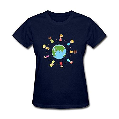 Women's International Missing Children's Day DIY Cotton Short Sleeve T Shirt