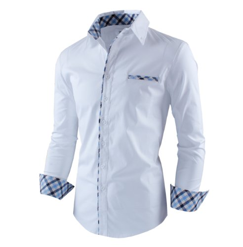 Tom 39 s ware mens premium casual inner layered dress shirt for Tom s ware mens premium casual inner contrast dress shirt
