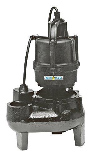 Bur Cam BurCam 400500  Sewage Pump, 1/2 hp, 115V
