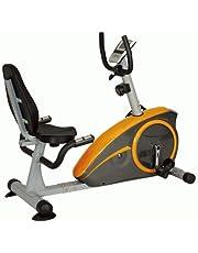 Skyland EM-1536 Magnetic Recumbent Lazy Bike For Unisex Adults - Yellow and Orange