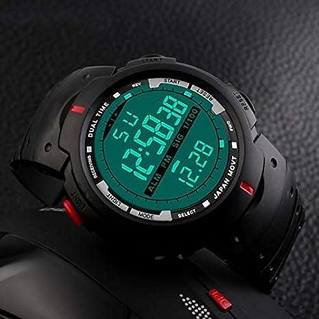 Liusdh - Reloj de pulsera para hombre, LED, analógico ...