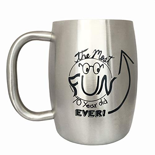 70th Birthday Gift Ideas - Stainless Steel Insulated Coffee Mug (14 oz) with Birthday Card - Funny Gifts for Grandpa by Lifestyle -