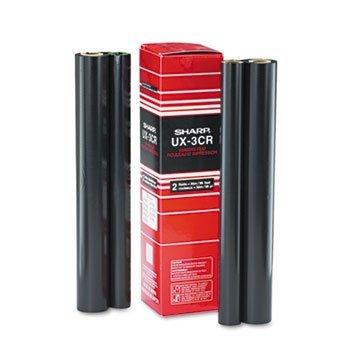 UX3CR Thermal Transfer Refill Ribbon, Black, 2/Box
