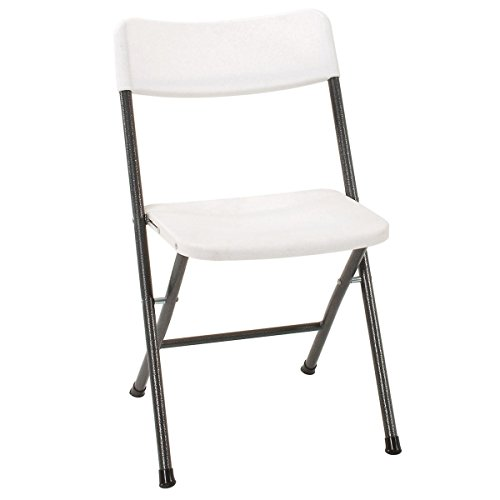 Cosco 37825WSP4E Resin Folding Chair with Molded Seat and Back, 4 Pack, ()