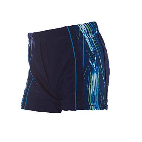 Summer Swim Trunks for Men Casual Printed Side Shorts Beach Sports Swimming Beachwear (XXL, Blue)
