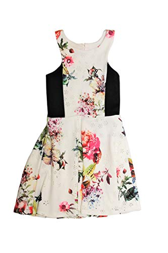 Price comparison product image Ava & Yelly Girls' Laser Cut Floral Dress S (7) Ivory