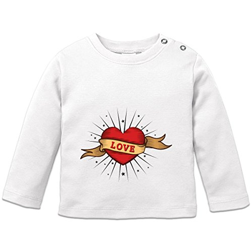 Shirtcity Love Old School Tattoo Baby Long Sleeve Shirt 92/98 White
