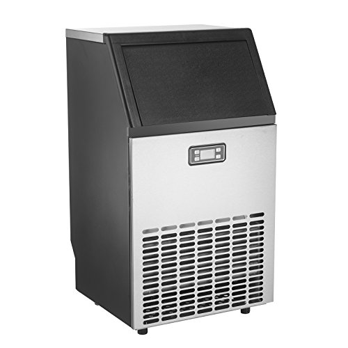 Cheap KUPPET Stainless Steel Commercial Ice Maker-Under Counter/Freestanding/Portable Automatic Ice Machine for Restaurant Bar Cafe, Products 100lbs Daily-w/Scoop, Ice Basket, Timer & Auto Clean