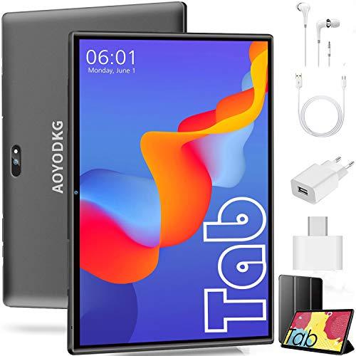 🥇 Tablet 10 Pulgadas Android 9.0 4G LTE�2020 Certificación Google GMS】 Tablets 3GB RAM+32GB ROM/128GB Escalable Quad-Core Dual SIM 8000mAh GPS Type-C 5.0+8.0MP