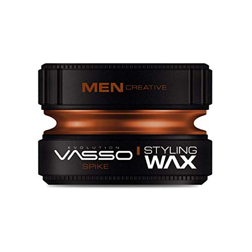 Vasso Spike Pro Clay Hair Dry Surfer Matte Look Styling Wax 150ml, Brown, 1 Count