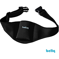 Microphone Belt/Mic Belt by Beltq Black Carrier Belts for Microphone Transmitter Up to 38 inch Waists Mic Pack Holster for Fitness Instructor or Theater