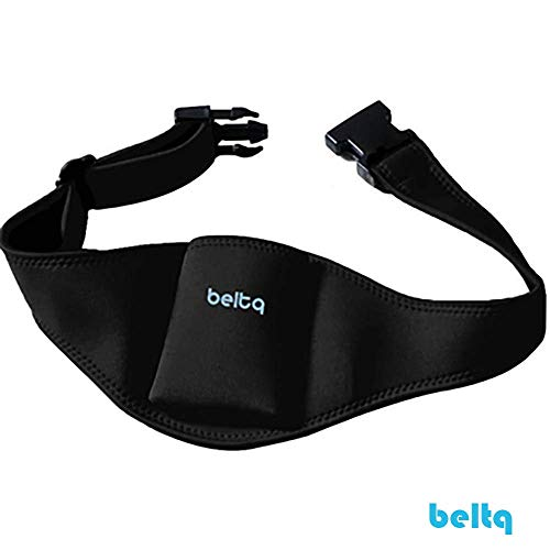 Microphone Belt/Mic Belt by Beltq Black Carrier Belts for Microphone Transmitter Up to 34 inch Waists Mic Pack Holster for Fitness Instructor or Theater ()