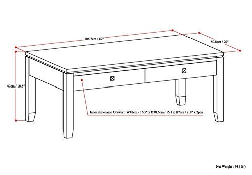Simpli Home INT-AXCCOS-COFI-CF Solid Wood