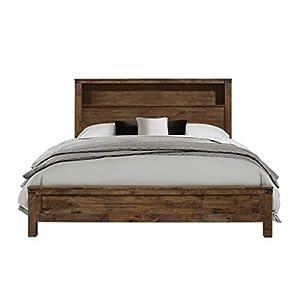 Global Furniture USA QB Victoria Bed, Queen, Rustic Oak