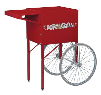 Gold Medal Products 223829 38.5 in. Popcorn Cart44; Red