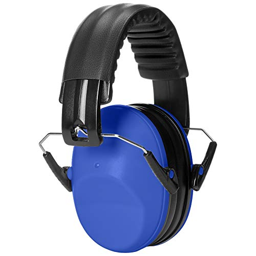 AmazonBasics Kids Ear Protection Safety Noise Earmuffs, Blue