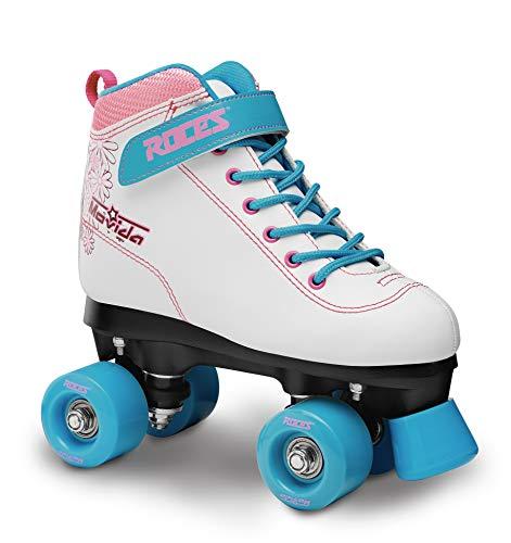 (Roces 550069 Women's Model Movida Art Roller Skate, US 8W, White/Violet/Blue)