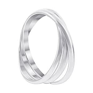 BDRS018-5 925 Sterling Silver Triple Band Thumb Ring