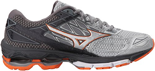 Mizuno Men Wave Creation 19 Running Shoe Silver/Diamond