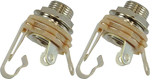 """Jack - Switchcraft, 1/4"""", Mono, 2-Conductor, Type 12A, package of 2"""