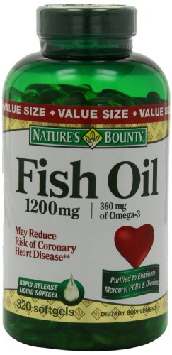 Nature 39 s bounty fish oil 1200 mg omega 3 and omega 6 buy for Nature s bounty fish oil 1200 mg