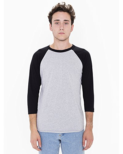 american-apparel-unisex-poly-cotton-3-4-sleeve-raglan-t-shirt-xs-hth-grey-black