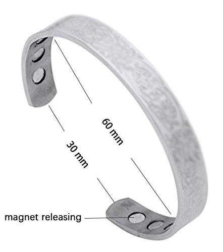 Fashion Viking Trinity Irish Knot Lucky Symbol Stainless Steel Bangle Magnet Cuff Bracelet Jewelry
