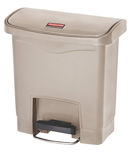Rubbermaid Commercial Products Slim Jim Step-On Plastic Trash/Garbage Cans