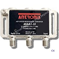 Amplifier, Cable TV RF Broadband 15dB Gain One Output 5-1002Mhz w/ Power Adapter