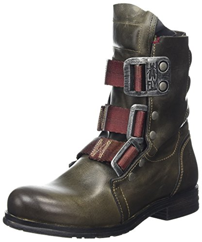 Grey Biker Stif Dark Botas Mujer London para Fly Gris Cq8wHtP