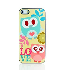 Forest Friend Blue Owls in love Heavy Duty Hard Back Cover Case for iPhone 5 5S 5G & Free LCD Film Touch Pen