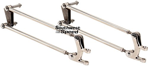 NEW SOUTHWEST SPEED POLISHED STAINLESS STEEL 4-BAR FRONT SUSPENSION KIT FOR 1932-1934 FORD'S, STREET ROD HOT ROD RAT ROD - Rod Suspension Hot