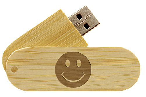 (16GB USB Flash Drive Bamboo NDZ Smiley Standard Solid 1 )