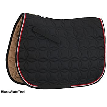 Roma Ecole Star Quilt Pad Black/Slate/Red