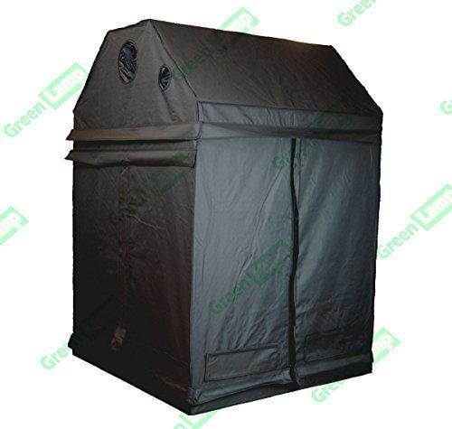 Grüne Lampe Premium Dachboden 120 x 120 x 160cm 600D Mylar Innen Dachgeschoss Gewächszelt Box Hydrokultur Dunkelkammer