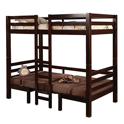 Coaster Home Furnishings Modern Convertible Twin Over Twin
