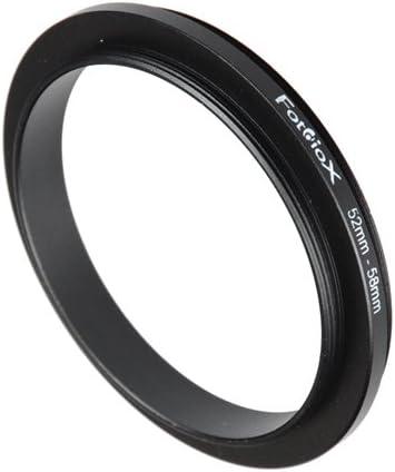 Panasonic Anodized Black Metal Ring 58mm Pentax Fotodiox 52mm for Nikon Samsung Camera Canon Sony 52-58mm Macro Close-up Reverse Ring Olympus