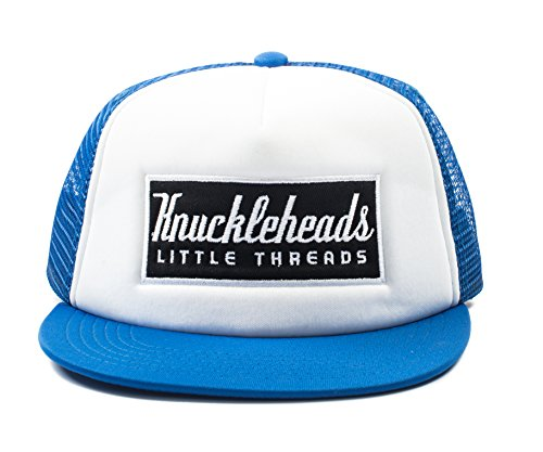 Knuckleheads Clothing Baby Boy Infant Trucker Sun Hat Blue and White Toddler Mesh Baseball Cap M 53 cm 2 to 5 Years