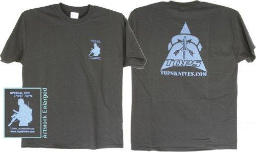 Tops Knives T Shirt Blue Black