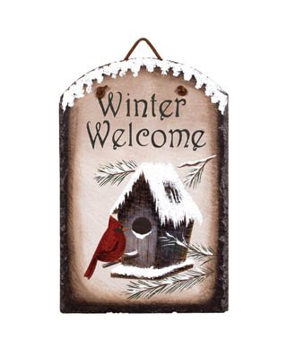 - Winter Welcome Birdhouse Slate