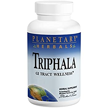 Planetary Herbals Triphala GI Tract Wellness, 1000mg, 180 Tablets, Pack of 2