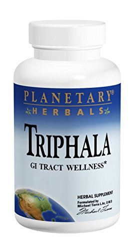 Planetary Herbals Triphala GI Tract Wellness, 1000mg, 180 Tablets, Pack of 2