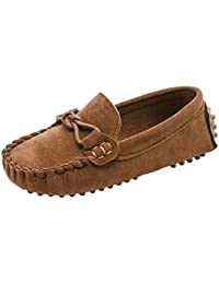 Boys Girls Suede Slip-On Loafers Oxfords Moccasins Casual Shoes(Toddler/Little Kid