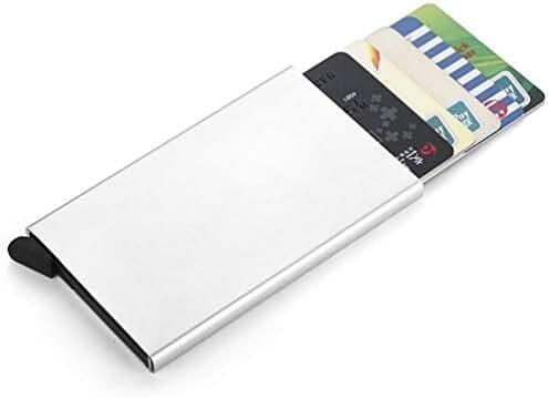 Credit Card Holder RFID Blocking Aluminum Business Card Holder Pop-up Card Case