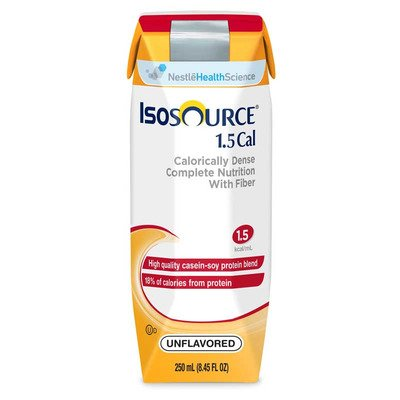 Isosource 1.5 Cal with Fiber Unflavored 250ml Brikpaks 24/Case **4 CASE SPECIAL**