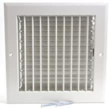 """8"""" x 8"""" ADJUSTABLE DIFFUSER - Vent Duct Cover - Grille Register - Sidewall or Cieling - High Airflow"""