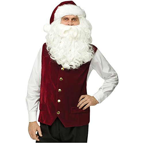 Warrior Elf Sexy Costumes - Velvet Santa Vest & Hat Costume - Standard - Chest Size 33-45