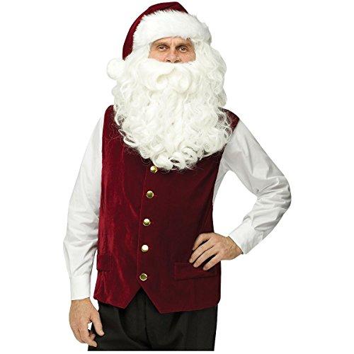 Velvet Santa Vest & Hat Costume - Standard - Chest Size 33-45
