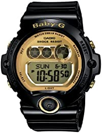 Women's BG6901-1 Baby-G Black Resin and Gold-Tone...